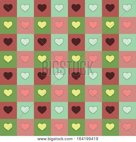 Colorful heart pattern background. Valentine day concept.