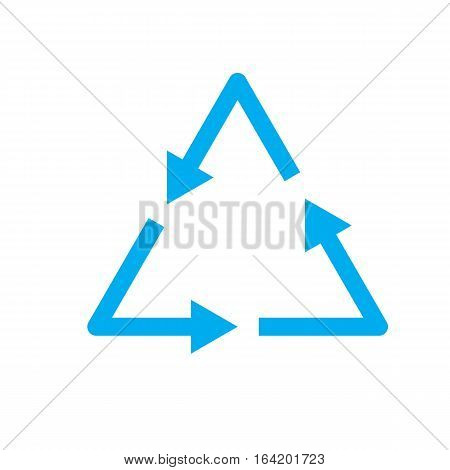 waste processing icon on white background. waste processing sign.