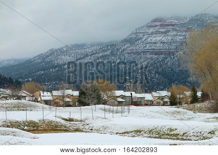 Winter over the La Plata County in Durango, CO