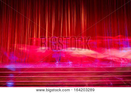 Red Curtains And Movements.