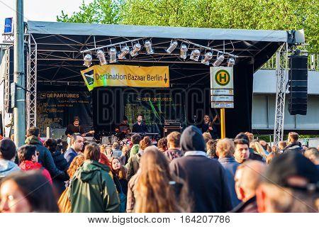 Street Festival In Kreuzberg, Berlin