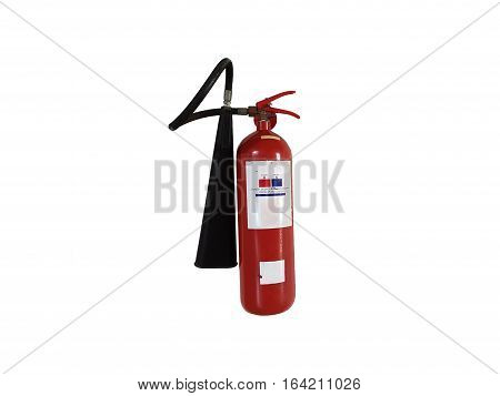 Old Fire Extinguisher need to maintain or check up isolated on white background