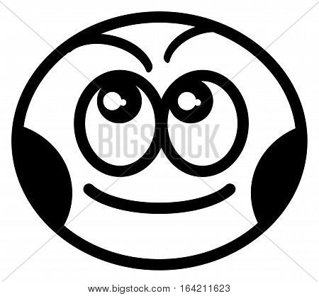 Smiley face on white background, vector illustration