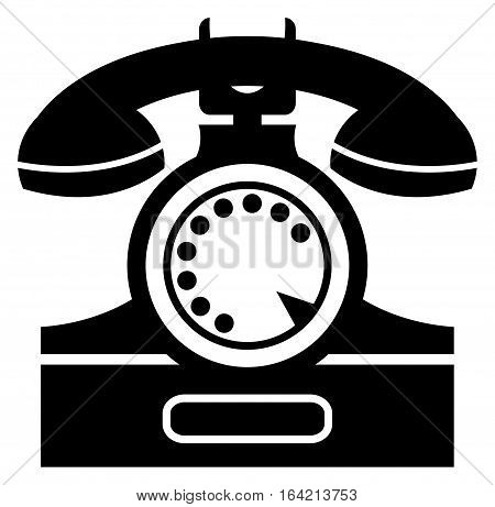 illustration or sign of an old telephone, vector