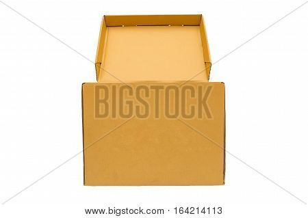 isolate of Cardboard empty box on white background