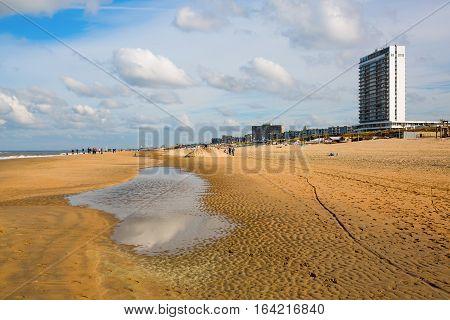 Beach Scene At Zandvoort, Netherlands