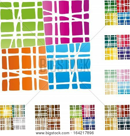 Four rectangles colored, background and rectangles illustration
