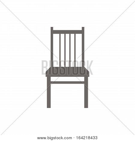 Icon Chair vector illustration. Dark outline on a white background.