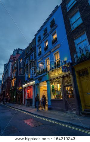 Beak Street In Soho, London, Uk