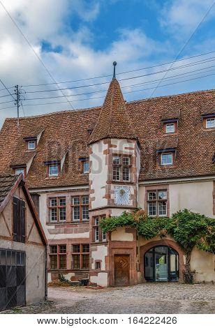 Historical hotel de Berkheim in Riquewihr Alsace France