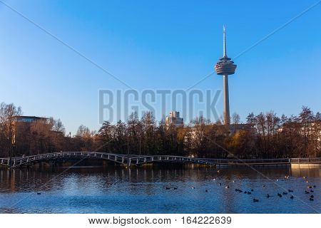 View Of The Colonius Tower In Cologne, Germany