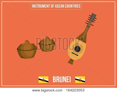 Vectors illustration of Instrument of Brunei country