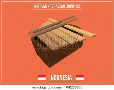 Vectors illustration of Instrument of Indonesia country