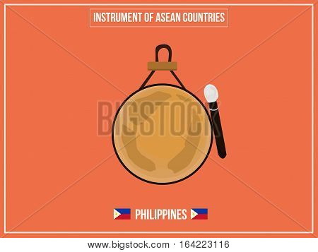 Vectors illustration of Instrument of Philippines country