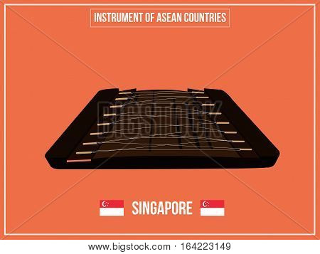 Vectors illustration of Instrument of Singapore country