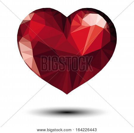 red heart vector isolated love valentine symbol