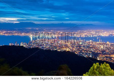 George Town city view from Penang Hill