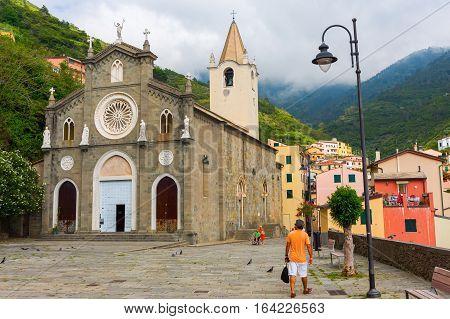 Church San Giovanni Battista Of Riomaggiore, Italy