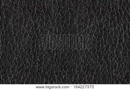 seamless black natural leather texture and background