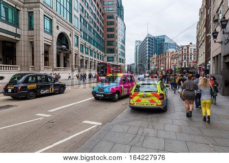 Street View At Bishopsgate In The City Of London