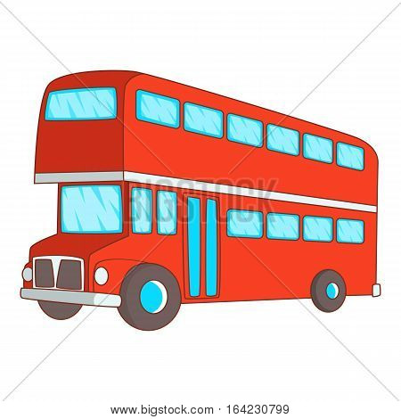 Double decker bus icon. Cartoon illustration of double decker bus vector icon for web design