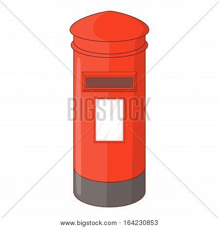 English inbox icon. Cartoon illustration of english inbox vector icon for web design