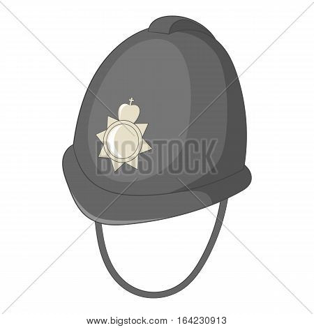 Headdress of english police icon. Cartoon illustration of headdress of english police vector icon for web design