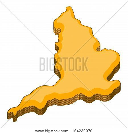 Map of United Kingdom icon. Cartoon illustration of map of United Kingdom vector icon for web design