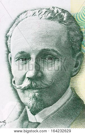 Slobodan Jovanovic portrait from Serbia's money - 5000 dinar's