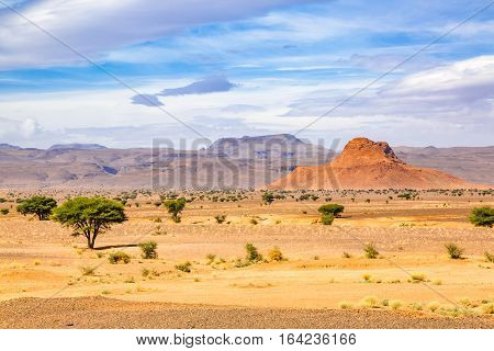 Typical Landscape Of Southern Morocco.