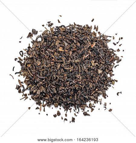 dry black tea studio isolated on white