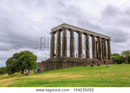 National Monument Of Scotland In Edinburgh