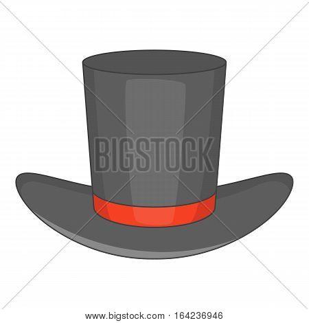 Gentleman hat icon. Cartoon illustration of gentleman hat vector icon for web design