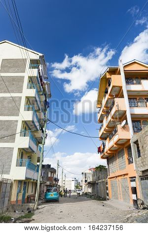 Nairobi Suburbs Street, Kenya, Editorial