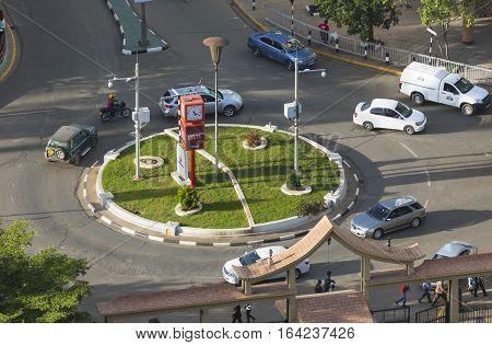 Roundabout At City Hall Road In Nairobi, Kenya, Editorial