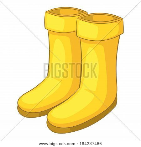 Rubber boots icon. Cartoon illustration of rubber boots vector icon for web design