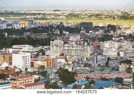 East Nairobi Bus Terminal And Market, Kenya, Editorial