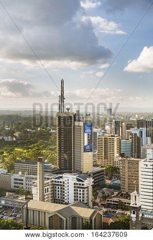 Teleposta Tower In Nairobi, Kenya, Editorial