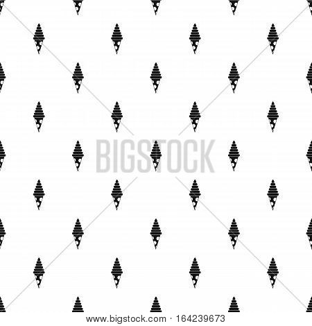 Chocolate ice cream cone pattern. Simple illustration of chocolate ice cream cone vector pattern for web