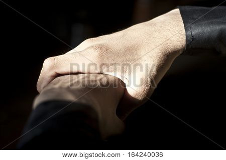 Human hands in symbolic gesture. Holding hands, Powerful fists, closed fingers etc...