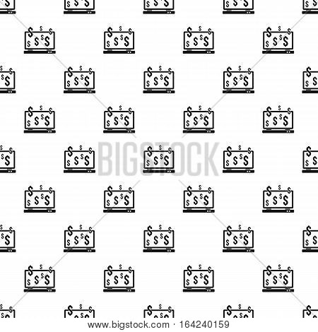 Money online on computer pattern. Simple illustration of money online on computer vector pattern for web