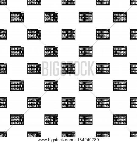Binary code on screen pattern. Simple illustration of binary code on screen vector pattern for web