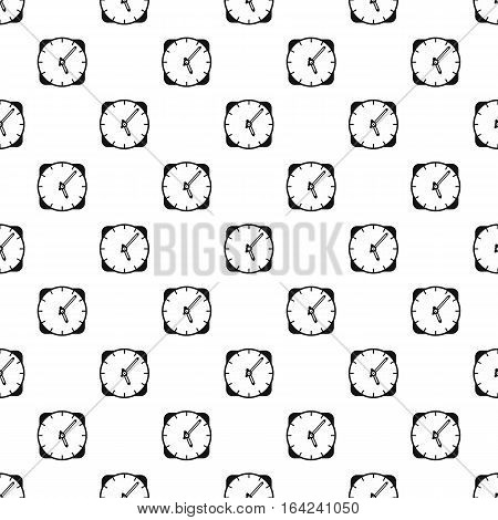 Wall mounted round clock pattern. Simple illustration of wall mounted round clock vector pattern for web