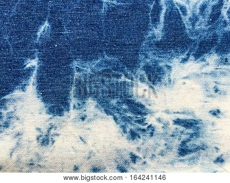 Texture of blue jeans demim fabric background