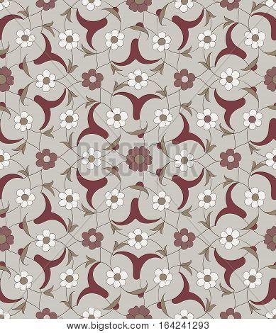 Traditional Arabic  ornament seamless. Floral Ornamental pattern. Background. Vector.  Iznik.