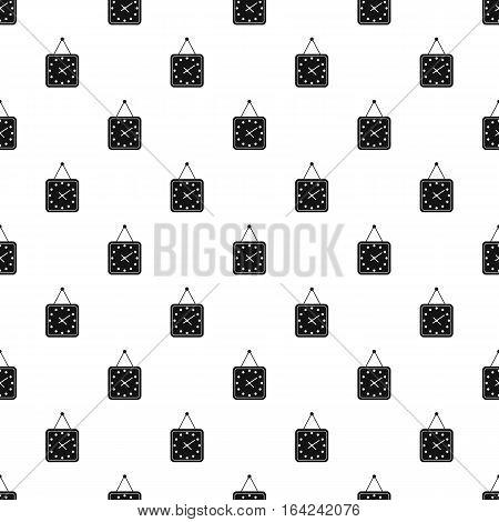 Square wall clock pattern. Simple illustration of square wall clock vector pattern for web