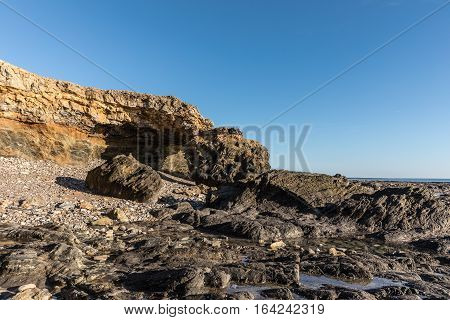 Ark rock formation at the Pointe du Payre, in the west coast of France in Vendee