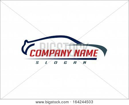 Car logo modern 2 on withe backgound
