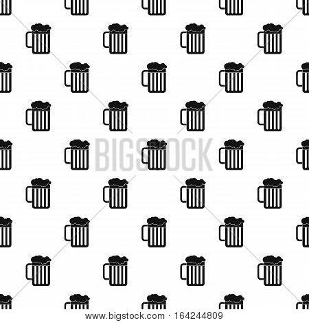 Beer mug pattern. Simple illustration of beer mug vector pattern for web