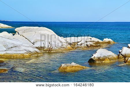 Soutsini beach at Kymi village Euboea Greece